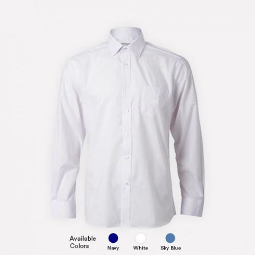 Long Sleeve Poly Cotton  Shirts For Boys