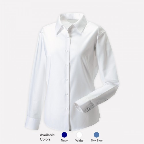 Long Sleeve Poly Cotton Shirts For Girls