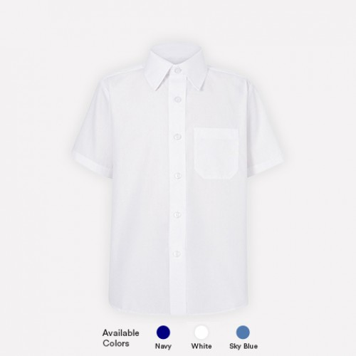 Short Sleeve Poly Cotton  Shirts For Boys