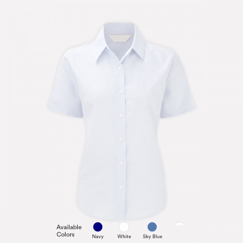Short Sleeve Poly Cotton Shirts For Girls